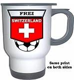 Alexander Frei (Switzerland) Soccer White Stainless Steel Mug