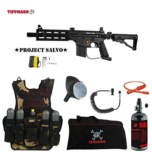 MAddog Tippmann U.S. Army Project Salvo Lieutenant HPA Tactical Camo Vest Paintball...