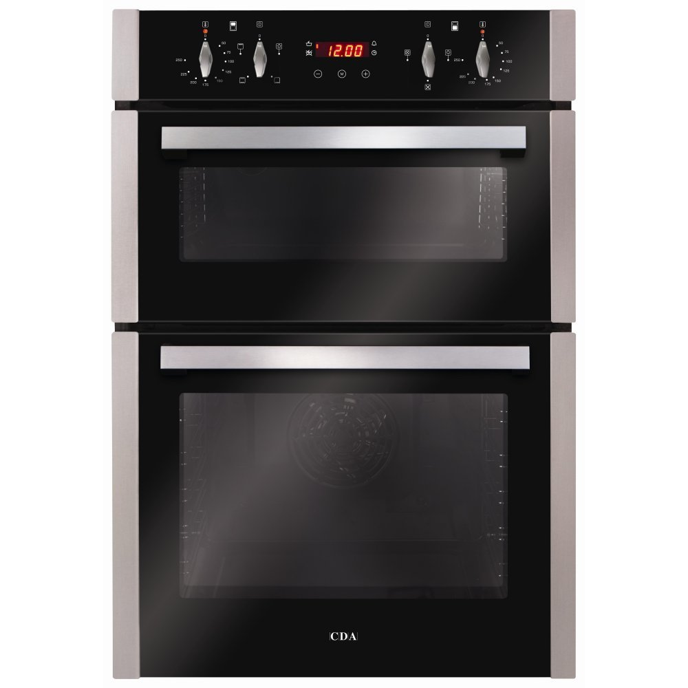 Built In Double Ovens Part - 38: CDA DC940SS Electric Built-in Fan Double Oven With Touch Control Timer -  Stainless Steel: Amazon.co.uk: Large Appliances
