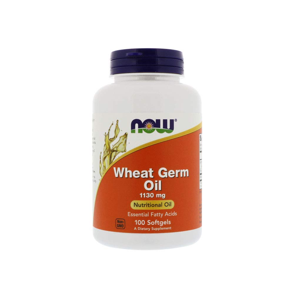 NOW Supplements, Wheat Germ Oil with Essential Fatty Acids (EFAs), 100 Softgels