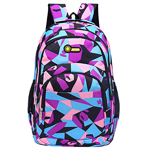 vermers Clearance Sale! Backpack, Teenage Girls Boys Back to School Backpack Camouflage Printing Students Bags - Purple by vermers
