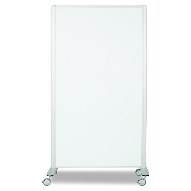 Best-Rite Mobile Lumina Room Divider, Double Sided Magnetic Whiteboard Panel, Platinum Frame (74861)