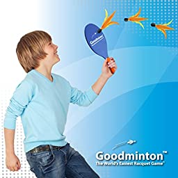 Goodminton | The World\'s Easiest Racket Game | An Indoor Outdoor Year-Round Fun Racquet Game for Boys, Girls, and People of All Ages