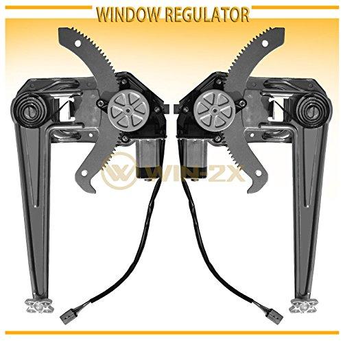 WIN-2X New 2pcs Front Driver & Passenger Side Power Window Regulators & Motors Assemblies Fit 93-11 Ford Ranger 94-10 Mazda B2300/B2500/B3000/B4000 Pickup - Window Motor New