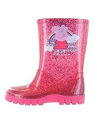 Peppa Pig Glitter Pink Make A Wish Wellington Boots UK Sizes 4-10