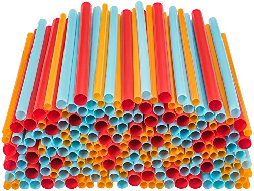 250 Assorted Straws Mixed Sizes Combo Pack, 100 Large Straws, 100 Smoothie Straws, 50 Boba Tea Extra Wide Straws, Different Widths - by DuraHome (Discontinued, Limited Supply)