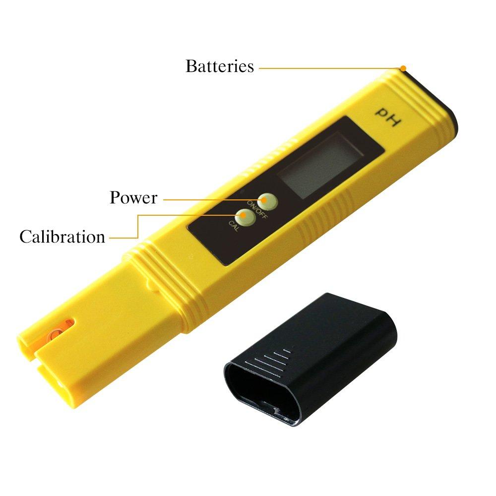 MacDoDo PH-02 Medidor Digital de PH, para agua de acuario, piscina, hidromasaje – Botón de presión de calibració: Amazon.es: Amazon.es