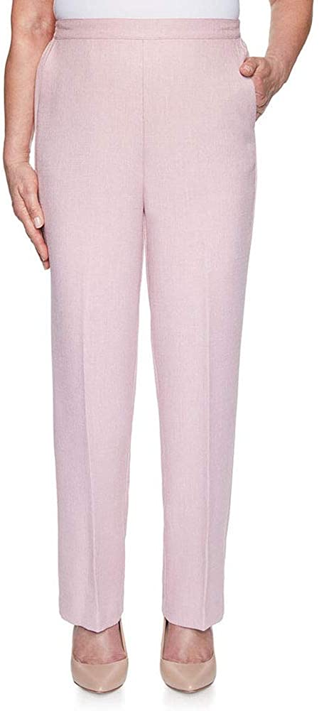 Alfred Dunner Women's Plus Size Textured Proportioned Medium Pant