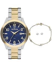 56eed313707 Kit Relógio Technos 2115KZU K5A Feminino Dourado e Prateado