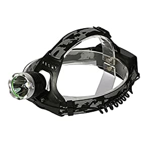 Hausbell Outdoor T6 LED Waterproof Headlamp with 2 X 18650 Rechargeable Batteries and 1 X Charger 1P