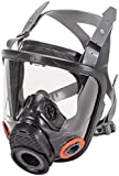 MSA Safety 10083787 Advantage 4200 Series Full-Facepiece Hycar Respirator with Rubber Head Harness, Twin-Port, Small