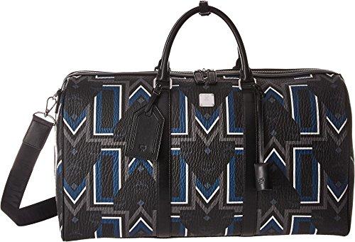 MCM Unisex Traveler Gunta Medium Visetos Weekender Black One Size by MCM