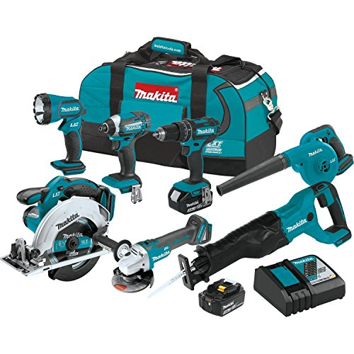 Makita XT706 3.0Ah 18V LXT Lithium-Ion Cordless Combo Kit (7 Piece) by Makita