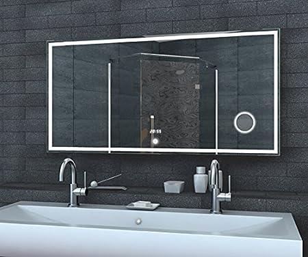 rmi-onlineshop Fineline Badezimmer Spiegel LED Beleuchtung 240 LED ...