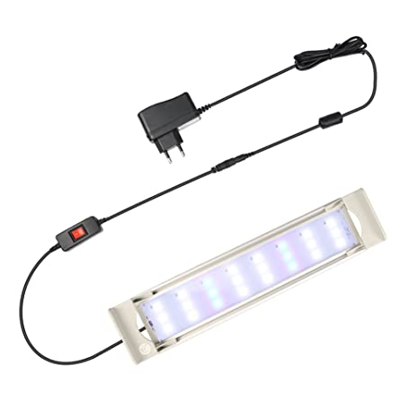 GOOBAT Iluminación LED para Acuarios, Lampara de LED para 25-30cm Acuarios, 8W