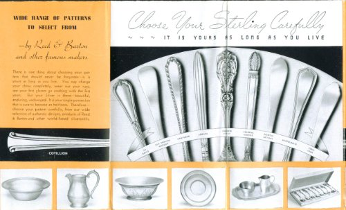 - Reed & Barton Silver for Wedding Gifts folder 1940s