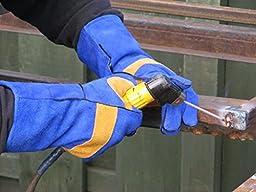 Safe Sparks Heat Resistant Welding Gloves, Medium