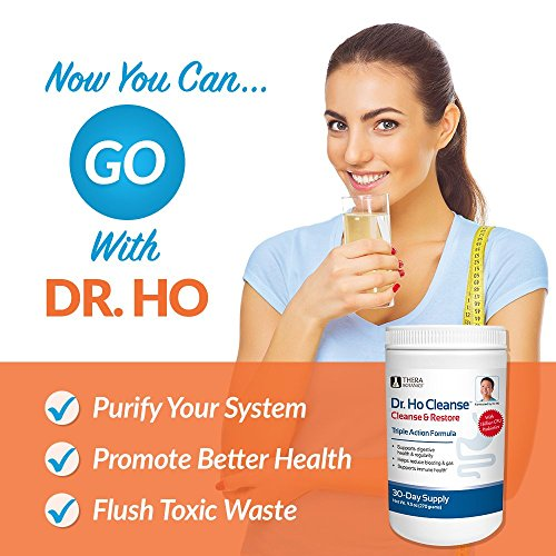 Amazon.com: Dr. Ho Cleanse & Restore - Detox-Eliminate Built-up Toxins and Waste; Relieve Discomfort from Constipation, Gas, Upset Stomach; Feel Lighter, ...