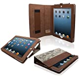 Snugg iPad 4 & iPad 3 Leather Case in Digital Camo – Flip Stand Cover with Elastic Hand Strap and Premium Nubuck Fibre Interior – Automatically Wakes and Puts the Apple iPad 4 & 3 to Sleep