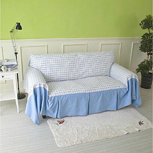 RUGAI-UE Sofa Slipcover Double sofa backrest sofa cloth non slip,360×180 wide,Fresh blue by RUGAI-UE (Image #1)