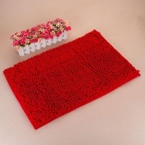 Red Anti-slip Microfiber Carpet / Doormat Floor Mat