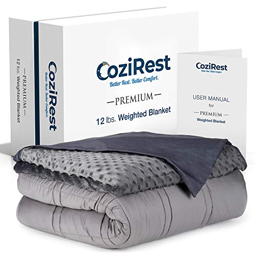 CoziRest Cooling Weighted Blanket - 12 lbs - 60x80