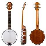 Kmise Banjo Ukulele 4 String Banjo lele Ukelele Uke 23 Inch Size (MI2099)