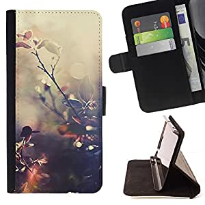 For Sony Xperia M5 E5603 E5606 E5653 Case , Reflexión de Sun Warm Summer Naturaleza- la tarjeta de Crédito Slots PU Funda de cuero Monedero caso cubierta de piel