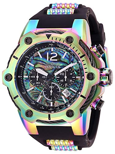 Invicta Men's Bolt Stainless Steel Quartz Watch with Silicone Strap, Multi, 32 (Model: 28033