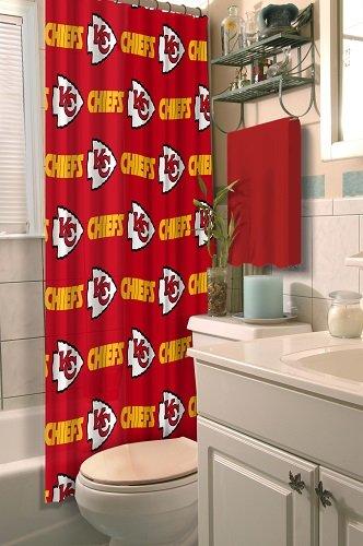 Amazon.com: Kansas City Chiefs COMBO Shower Curtain, Matching Shower ...