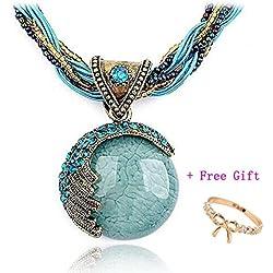Doinshop 2016 New Hot Fashion Bohemian Jewelry Statement Necklaces Women Rhinestone Gem Pendant Collar