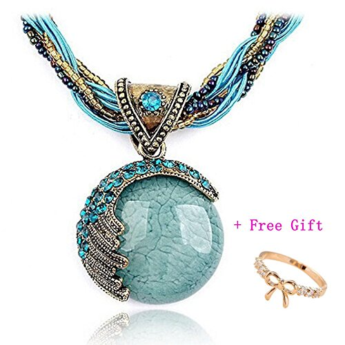 Doinshop 2016 New Hot Fashion Bohemian Jewelry Statement Necklaces Women Rhinestone Gem Pendant Collar (Accessories Womens Necklace)