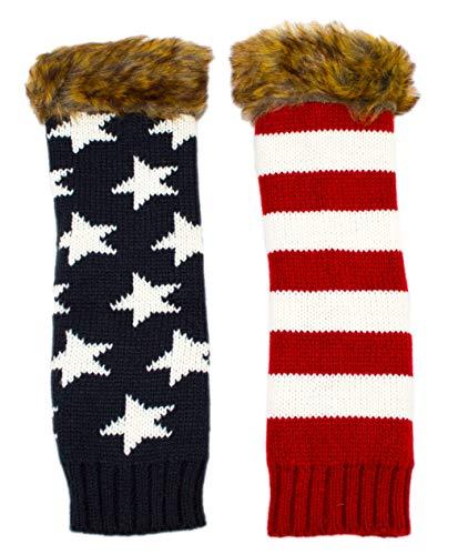 Long Warm Knit Flag...