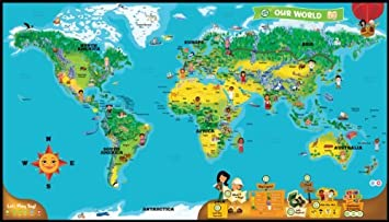 LeapFrog LeapReader Interactive World Map Works With Tag - Interactive map for children