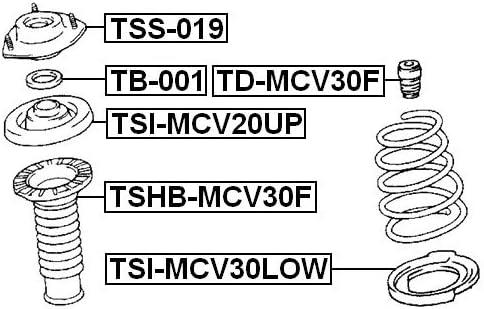 Lower Spring Mount FEBEST TSI-MCV30LOW OEM 48158-33030