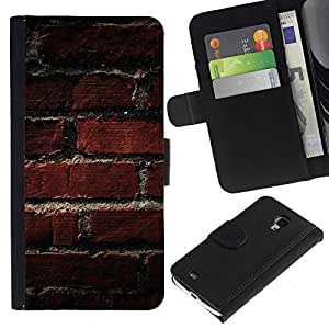 Ihec-Tech / Flip PU Cuero Cover Case para Samsung Galaxy S4 Mini i9190 MINI VERSION! - Texture Old Brick Pattern