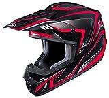 HJC Helmets Unisex-Adult Off-Road Helmet (Black/Red, Large) (CS-MX II Edge MC-1)