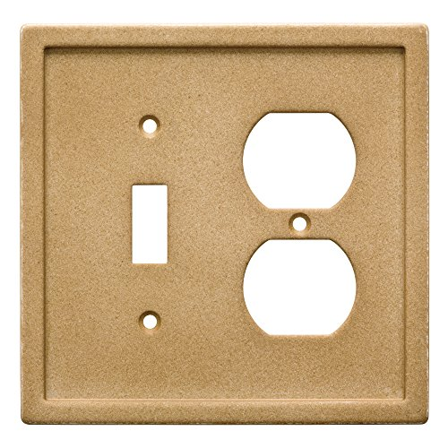 Franklin Brass W30355-365-C Dark Sand Tumbled Textured Tile Switch/Duplex Faux Stone Wall Plate (Stone Tile Faux)