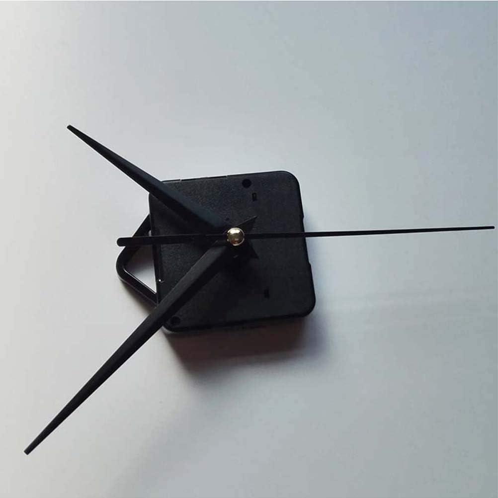 Nero Yardwe Kit Movimento Orologio da Parete Set Orologio da Parete Fai da Te Meccanismo di Movimento Parti di Riparazione con 3 puntatori