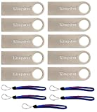 Kingston (TM) Flash Drive 10 Pack DTSE9H/32GB DataTraveler USB 2.0 Flash Drive with (5) Everything But Stromboli (TM) Lanyards