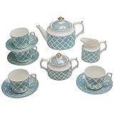 Grace Teaware 11-Piece Porcelain Tea Set (Debra)