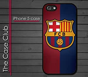 iPhone 5 Rubber Silicone Case - Barcelona FCB Soccer Futsal Futbol club Messi FC