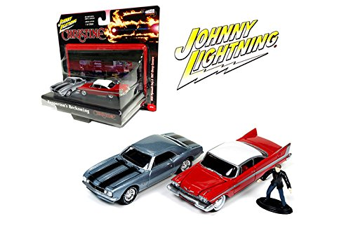 New 1:64 AUTO WORLD JOHNNY LIGHTNING DIARAMA COLLECTION - 1958 PLYMOUTH FURY & 1967 CHEVY CAMARO Set of 2pcs Diecast Model Car By Auto - Plymouth Fury Set