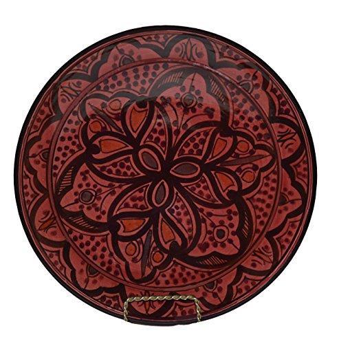 Moroccan Handmade Burgundy Plate