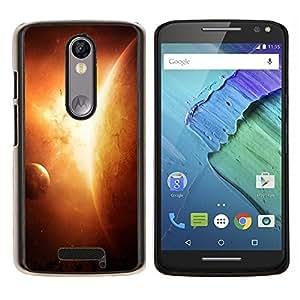Eason Shop / Premium SLIM PC / Aliminium Casa Carcasa Funda Case Bandera Cover - Planetas en el espacio - For Motorola Moto X ( 3rd Generation )