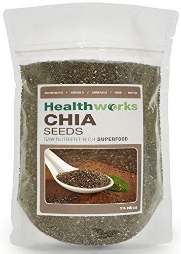 Healthworks Chia Seeds Raw Pesticide-Free, 3lb