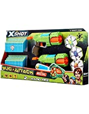 X-Shot Bug Attack Double Rapid Fire with 3 Bugs and 96 Darts (4835)
