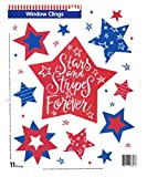 Patriotic Window Clings Widow Clings Red White & Blue Stars - Celebrate the USA