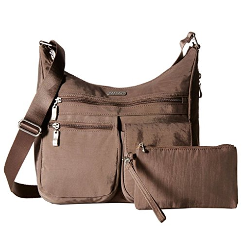 Baggallini Everywhere Travel Crossbody Bag, Mocha, One Size
