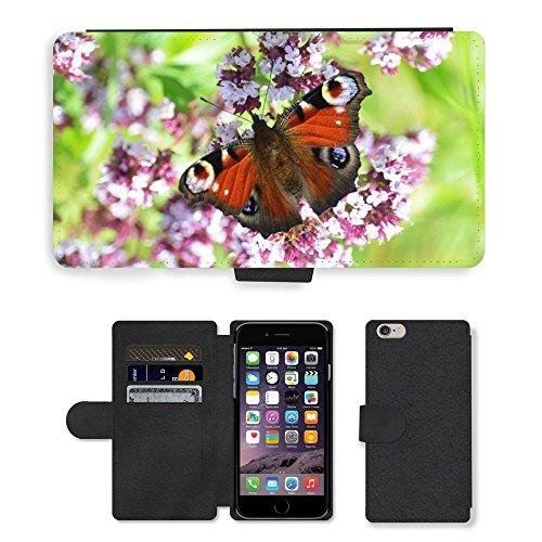 "Just Phone Cases PU Leather Flip Custodia Protettiva Case Cover per // M00128325 Paon insecte nature // Apple iPhone 6 PLUS 5.5"""